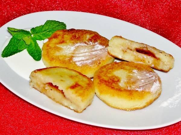 Сырники из творога с начинкой в духовке рецепт пошагово