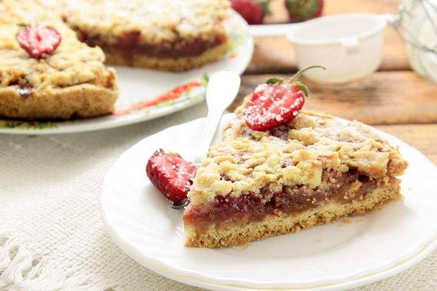 Тертый пирог с клубникой рецепт пошаговый рецепт