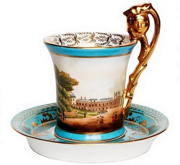Чайная пара, севрский фарфор