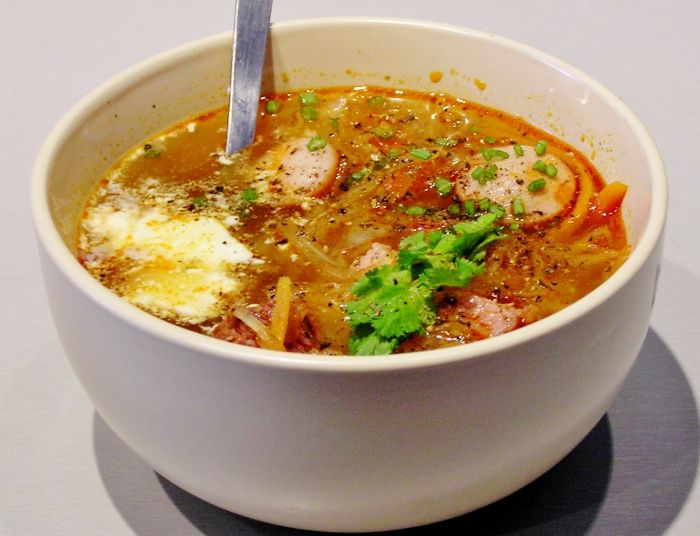 солянка мясная с капустой суп