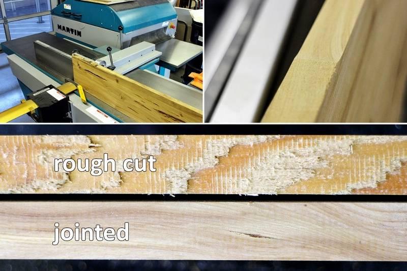 Оборудование для обработки древесины, необработанная кромка, обработанная кромка