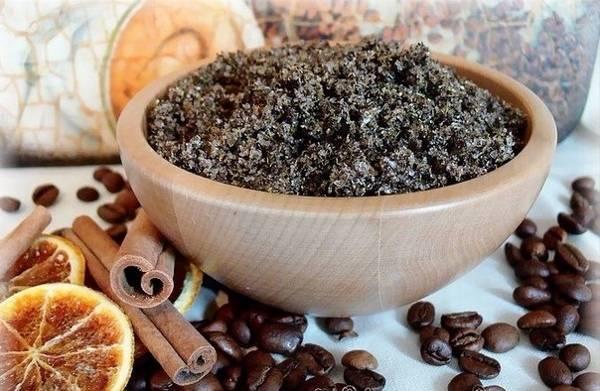 Скраб из кофе с корицей