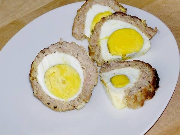 Яйцо куриное в фарше