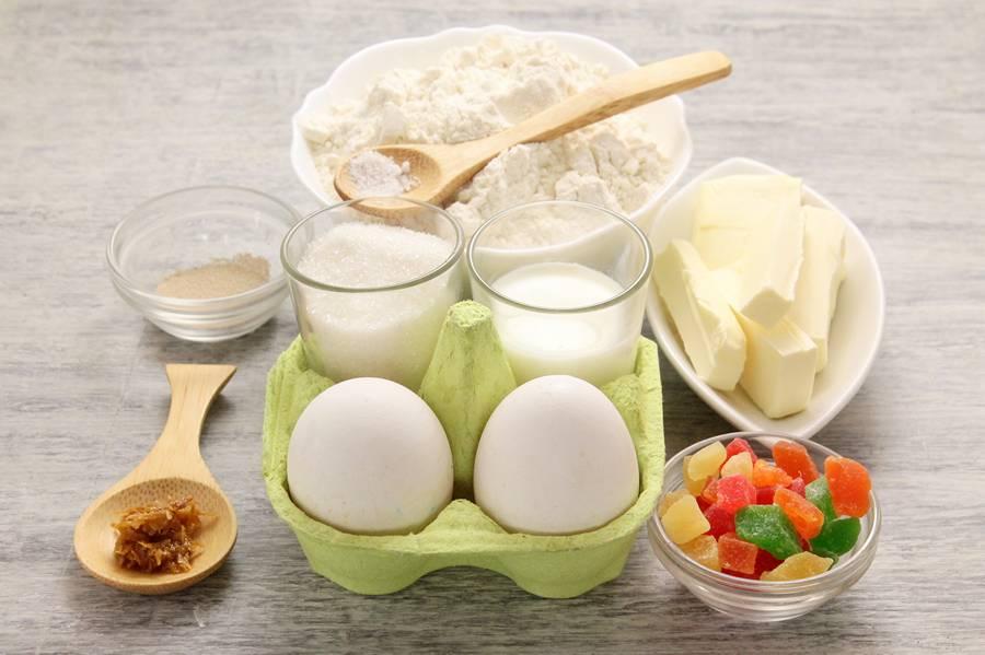 Ингредиенты для приготовления бриошей