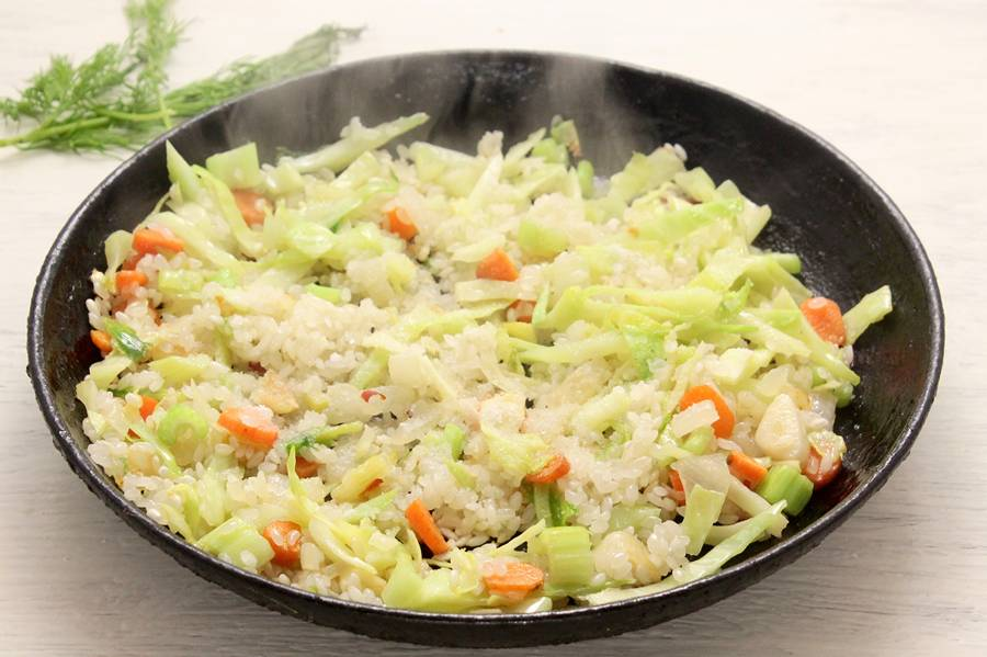 Приготовление риса с овощами
