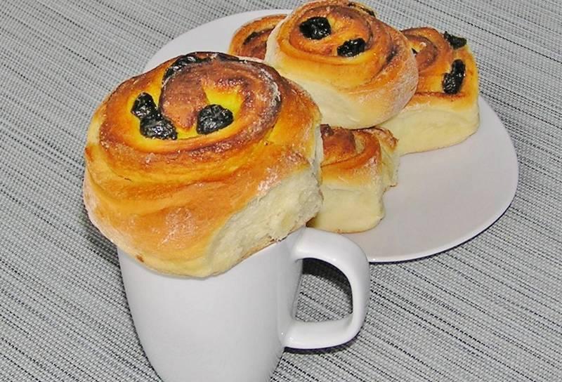 Рецепт булочек-улиток с изюмом