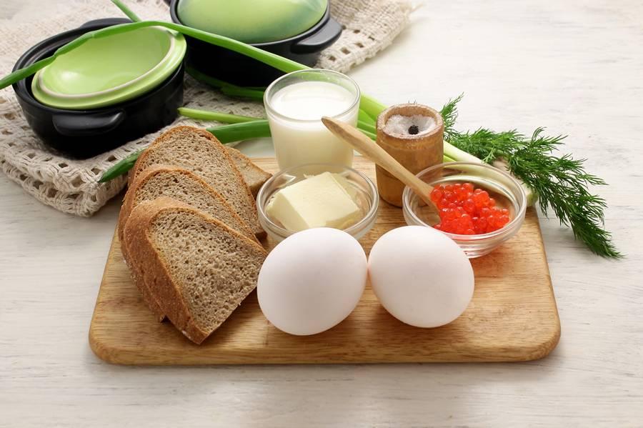 Ингредиенты для приготовления яичницы