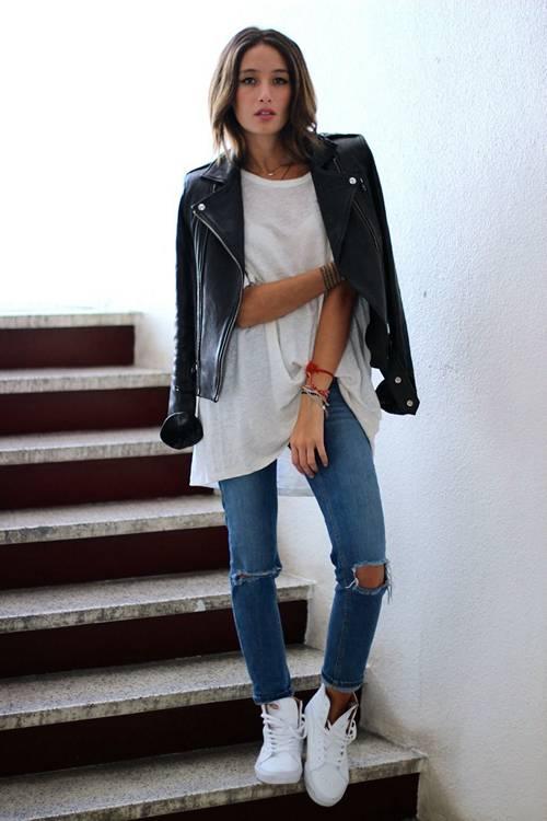 джинсы с косухой