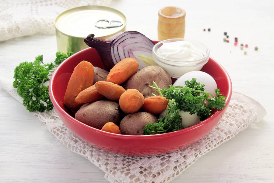 Ингредиенты салата «Мимоза»