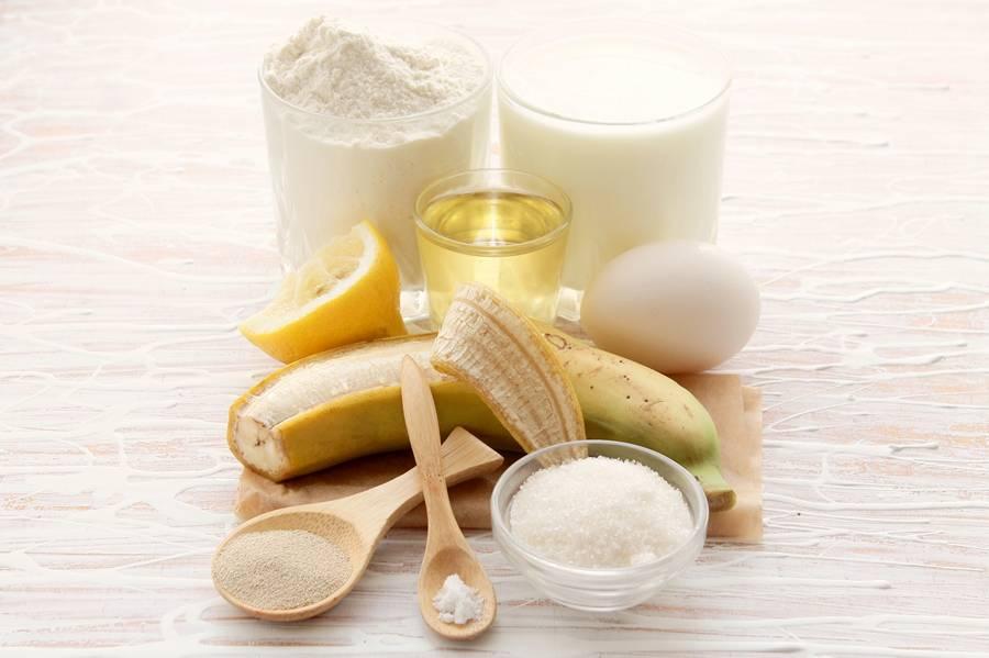 Ингредиенты для банановых оладий