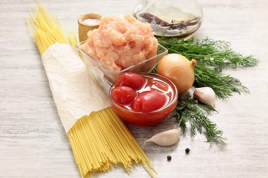 Ингредиенты для спагетти болоньезе