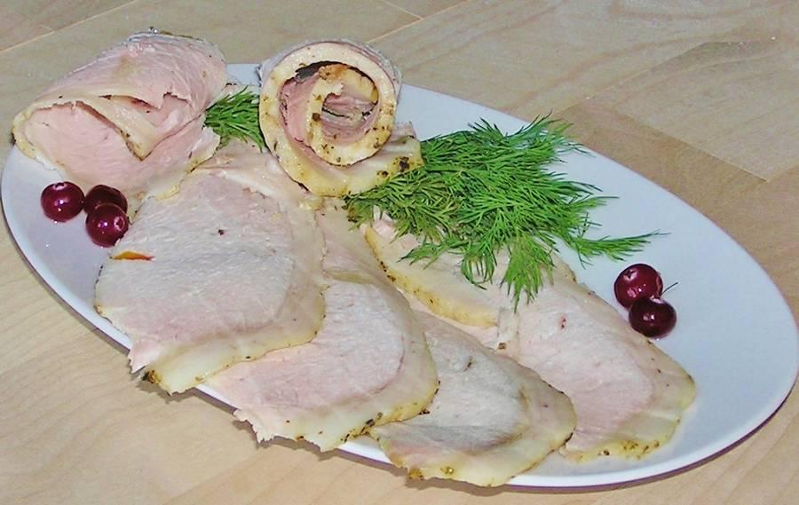 Нашпигованный свиной карбонад
