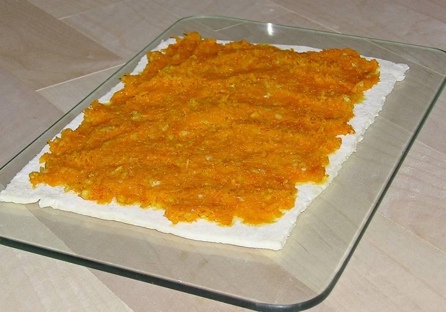 Приготовление рулета с морковью