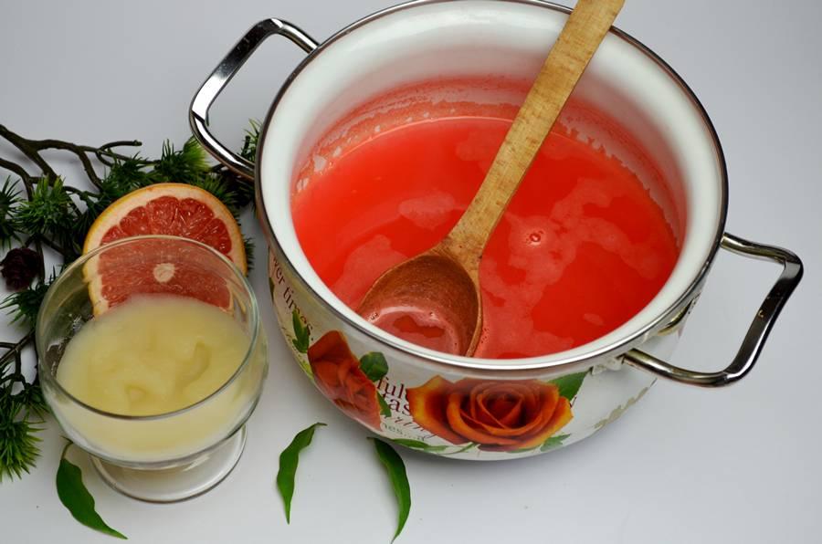 Приготовление домашнего мармелада из грейпфрута