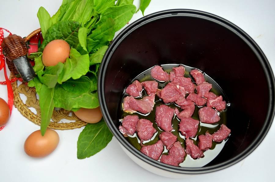 Приготовление зеленого борща с телятиной, шаг 1