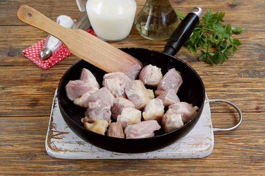Приготовление свинины в молоке, шаг 3