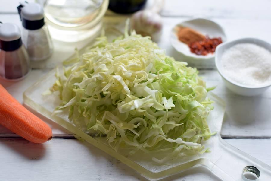 Приготовление капусты по корейски