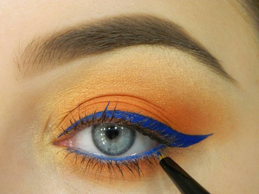 Как сделать яркий летний макияж глаз