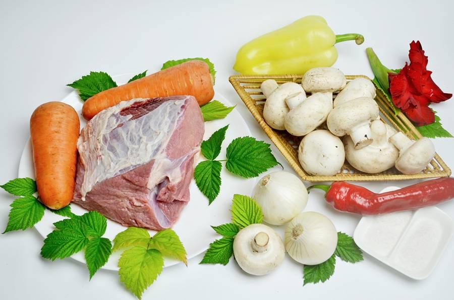 Ингредиенты для мясного паштета
