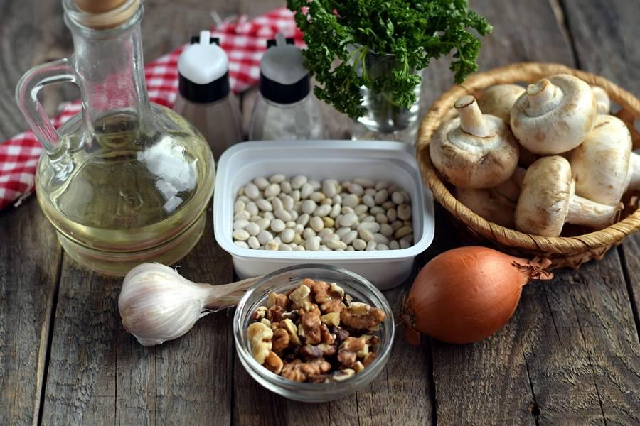 Ингредиенты для паштета из фасоли