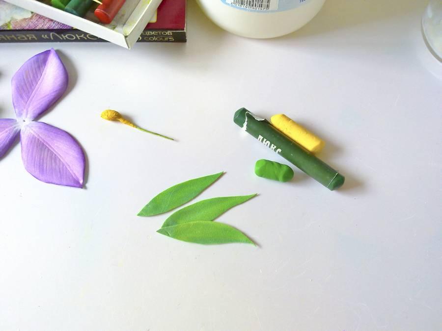 Изготовление резинки для волос с орхидеей из фоамирана
