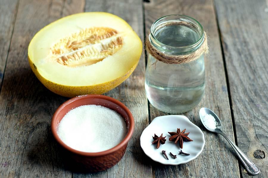 Ингредиенты для дыни в сиропе