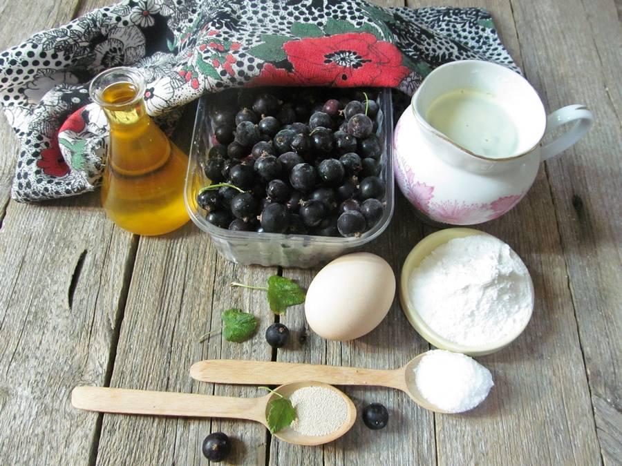 Ингредиенты для пирога со смородиной