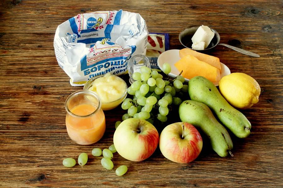 Ингредиенты фруктовой лепешки