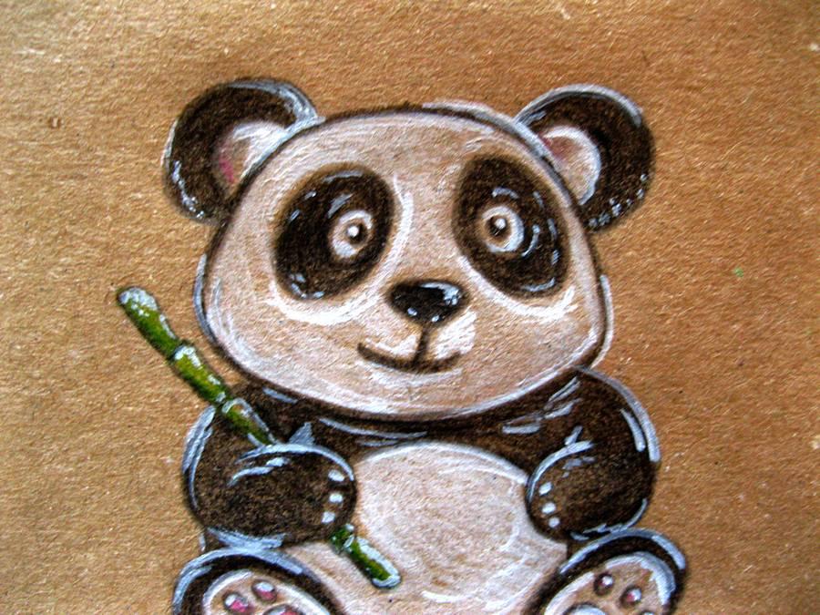 Нарисованный панда