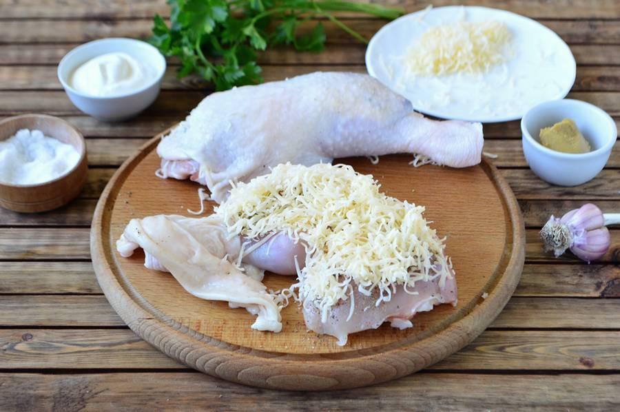 Приготовление фаршированных куриных окорочков