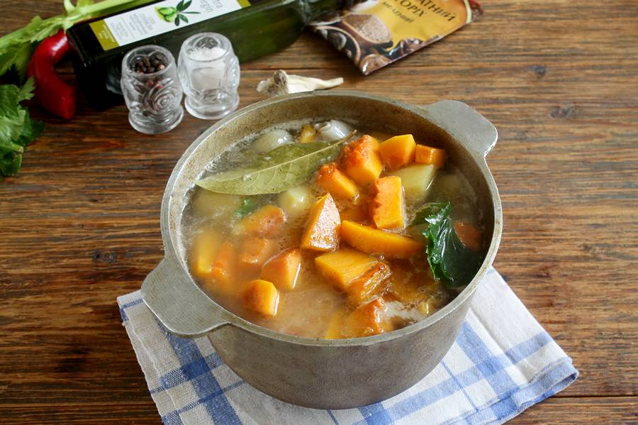 Приготовление тыквенного супа