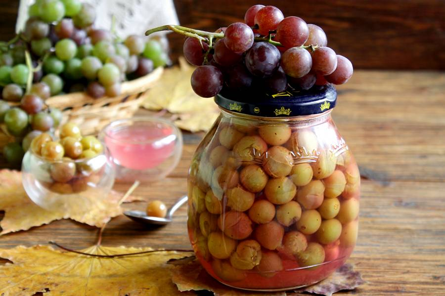 виноград на зиму рецепты пошагово с фото вас есть