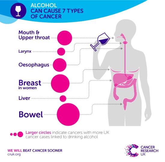 Инфографика - Алкоголь и рак