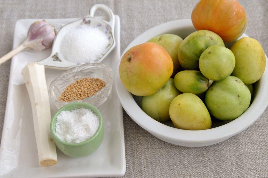Ингредиенты для квашения помидоров