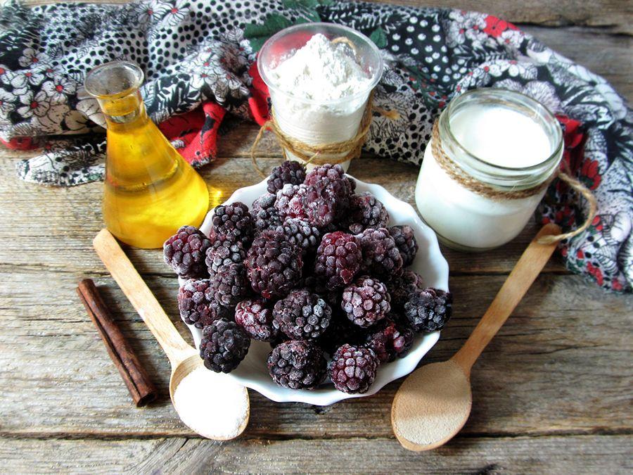 Ингредиенты ежевичного пирога