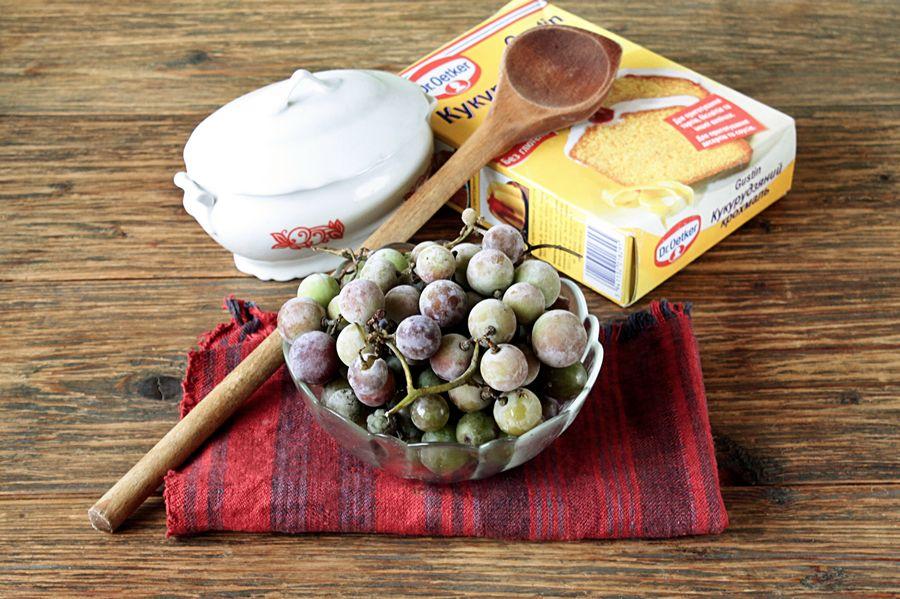 Ингредиенты виноградного киселя