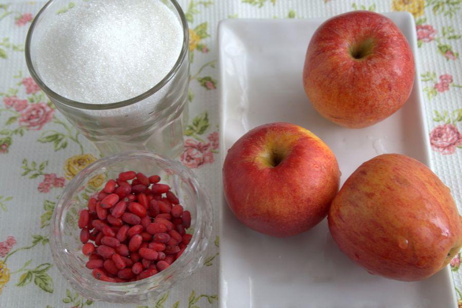 Ингредиенты яблочного мармелада с барбарисом