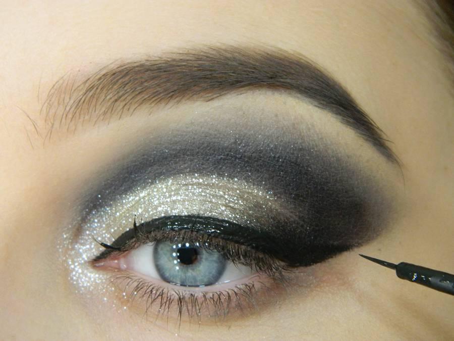 Как сделать новогодний макияж шаг-9