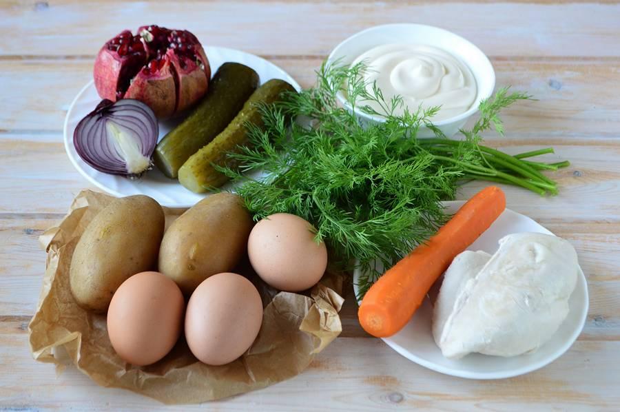 Ингредиенты салата Рождественский венок