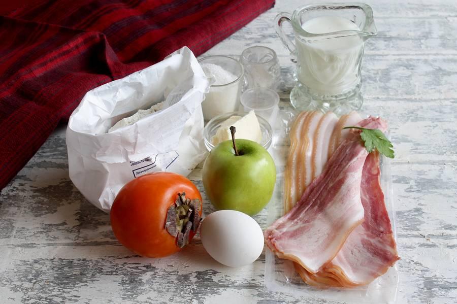 Ингредиенты закуски из вафель
