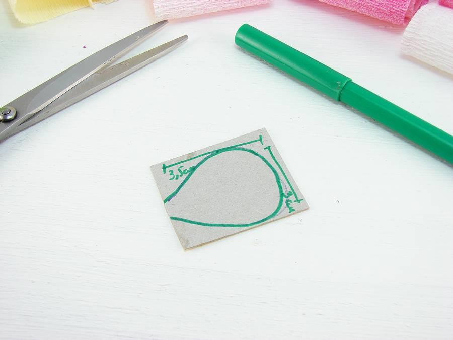 Как сделать лютики из гофрированной бумаги шаг 1
