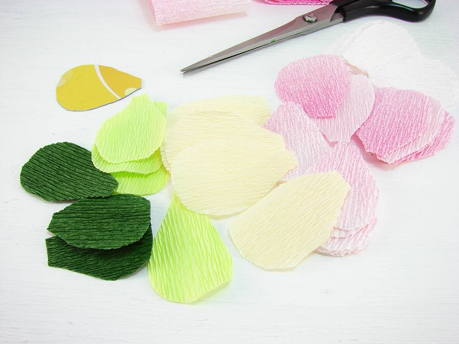 Как сделать лютики из гофрированной бумаги шаг 3