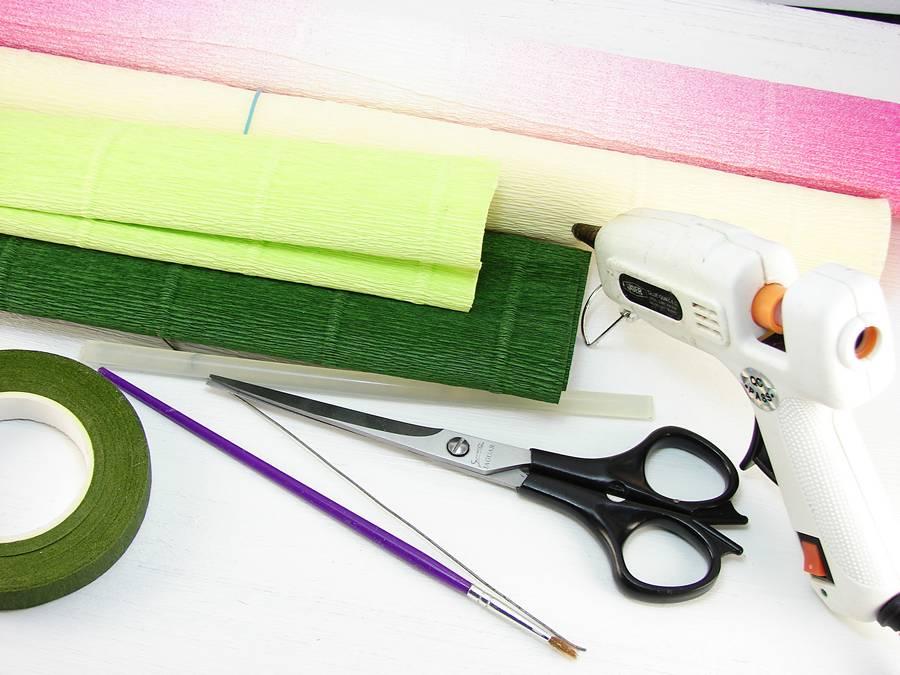 Материалы для изготовления бумажных лютиков