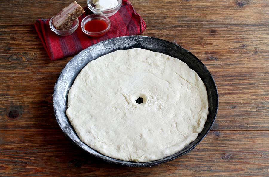 Приготовление пиццы в форме кольца шаг 3