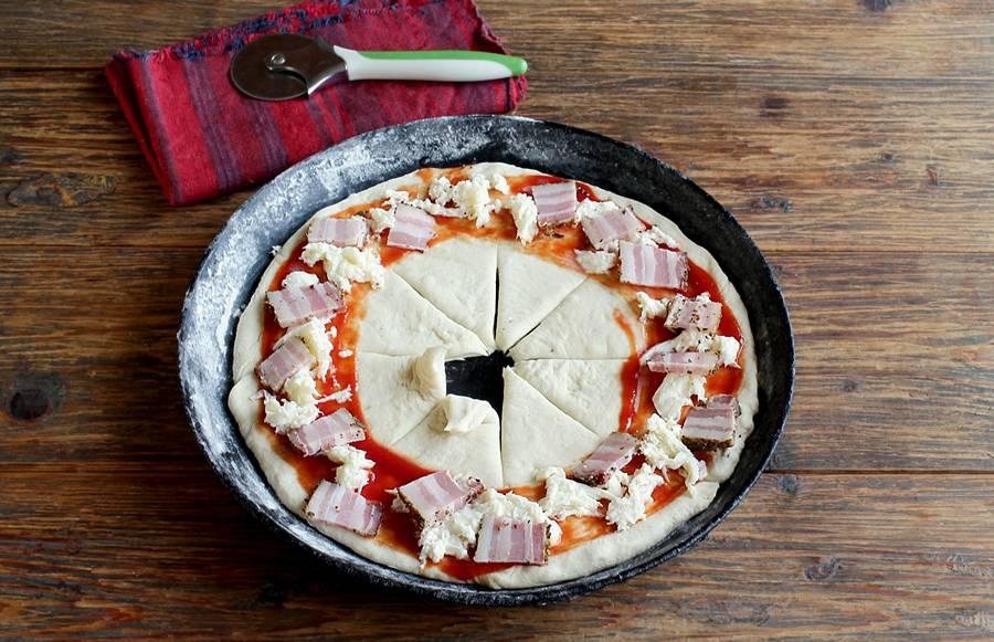 Приготовление пиццы в форме кольца шаг 6
