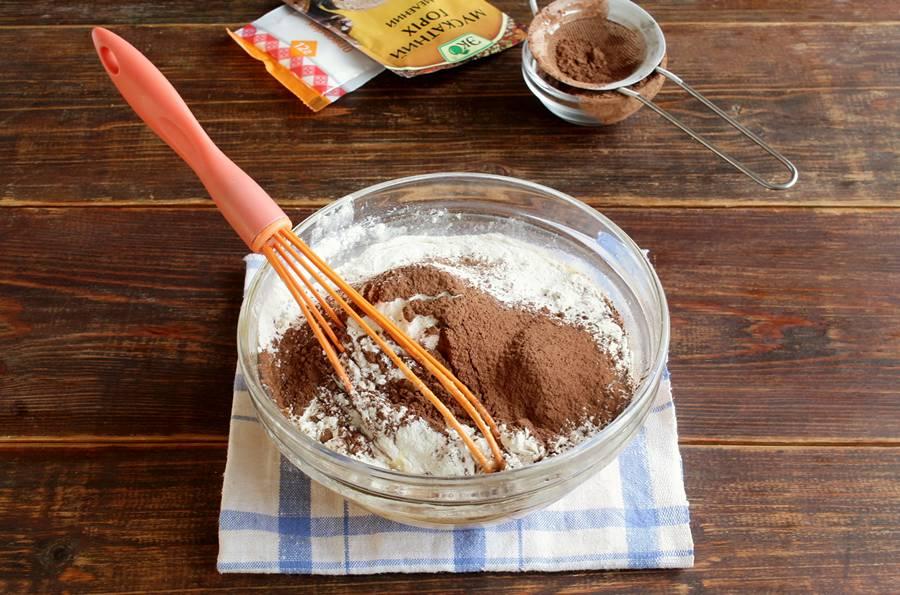 Приготовление пряных кексов с мандаринами шаг 3