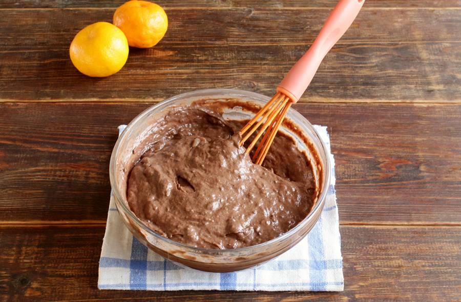 Приготовление пряных кексов с мандаринами шаг 4