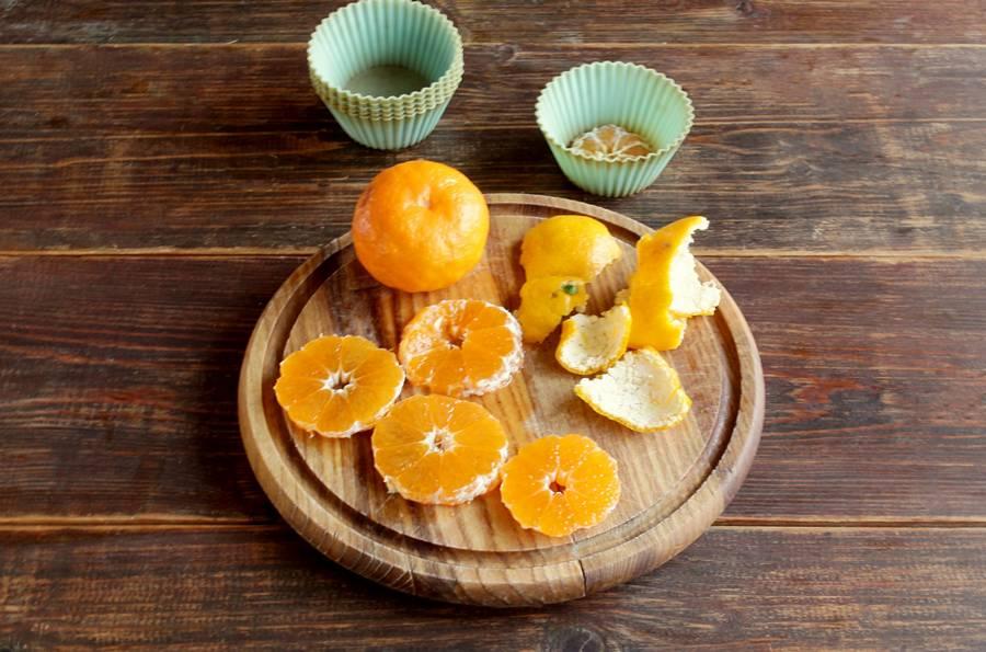 Приготовление пряных кексов с мандаринами шаг 5