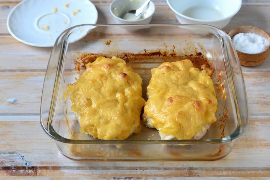 Приготовление куриного филе с ананасом шаг 9