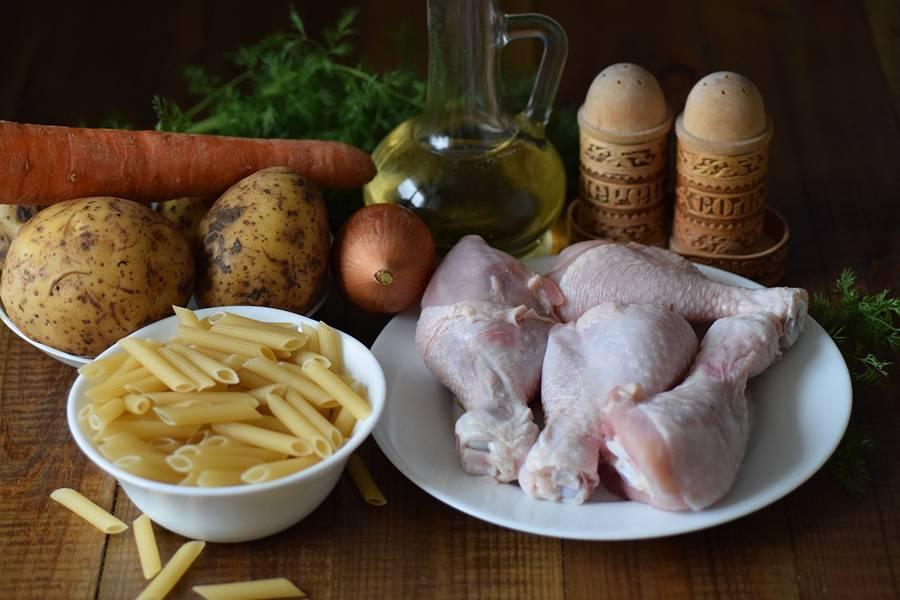 Ингредиенты куриного супа